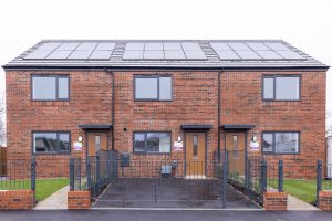 Image of 3 Keepmoat houses with solar panels